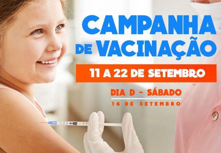 3ac6975804 Começou nesta segunda-feira( 11.09.17) a campanha nacional de  multivacinação. A iniciativa