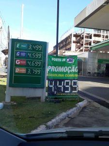 Foto de hoje de um posto de gasolina na Avenina Castanheiras