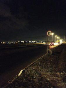 Avenida Sibipiruna a noite